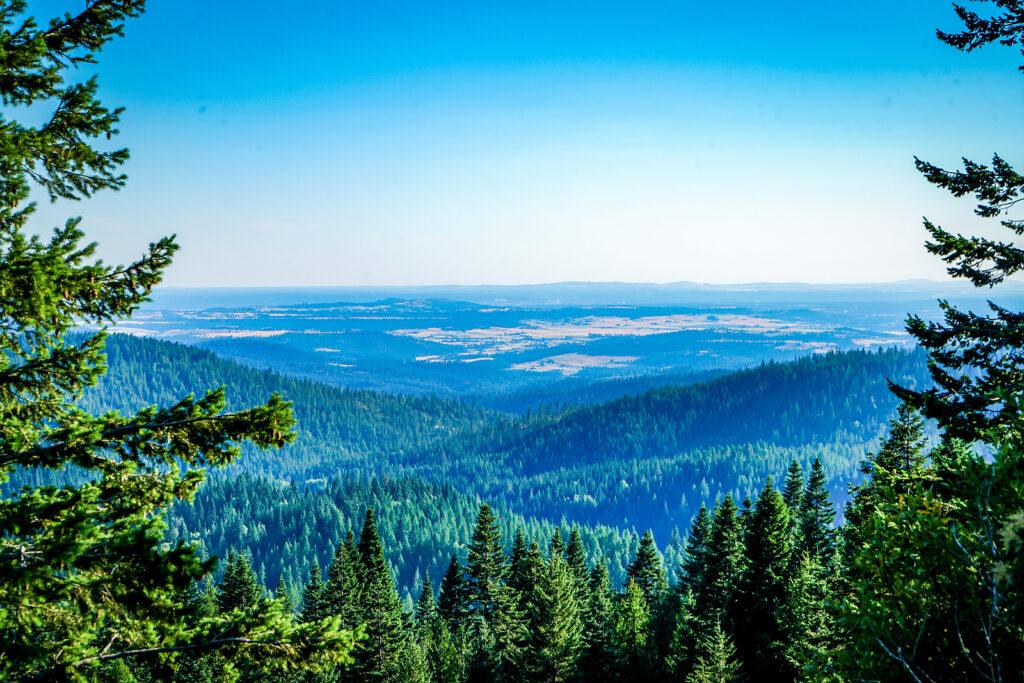 Spokane Valley -A spectacular view from Mount Spokane in Spokane Washington.