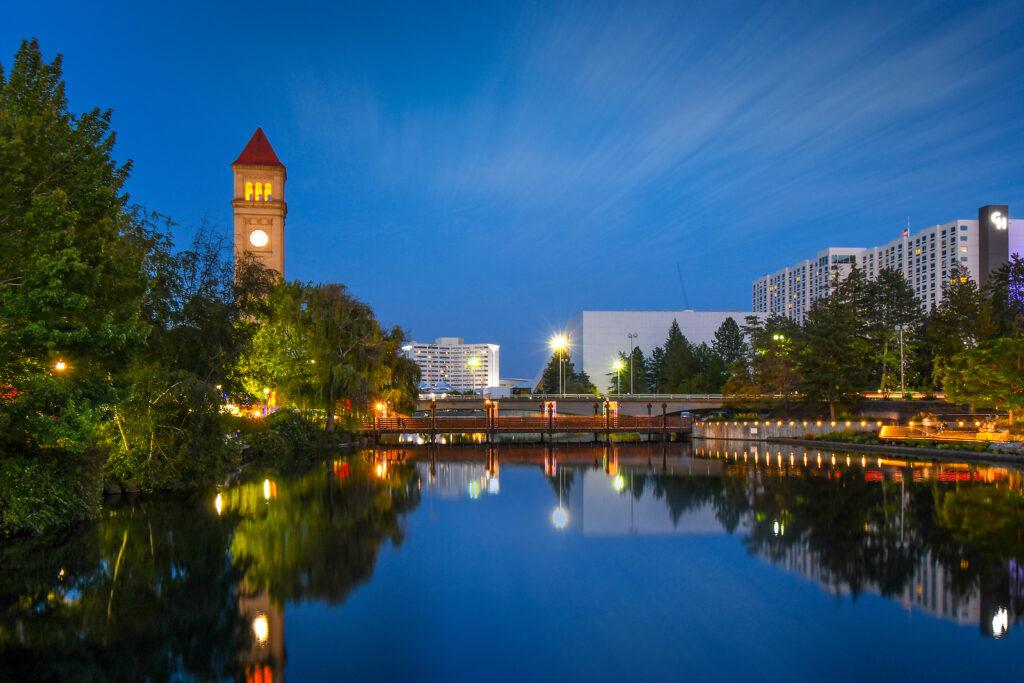 Spokane, Washington - September 2 2018: Evening